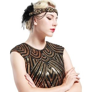 Dresses & Skirts - 1920s Golden Flapper Dress Set! ✨